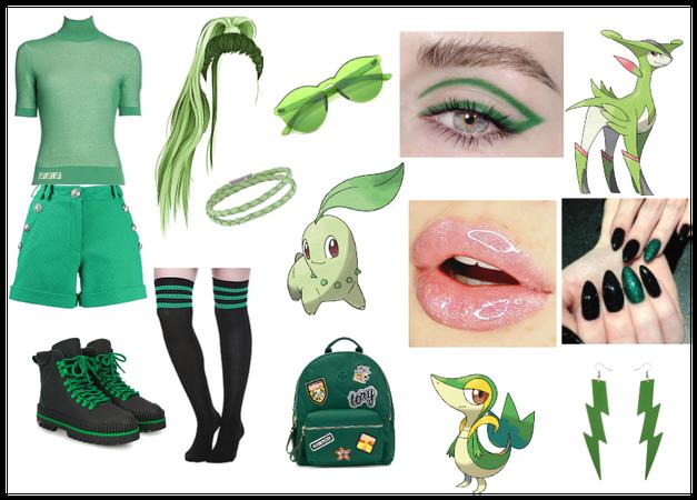 Green Pokémon trainer