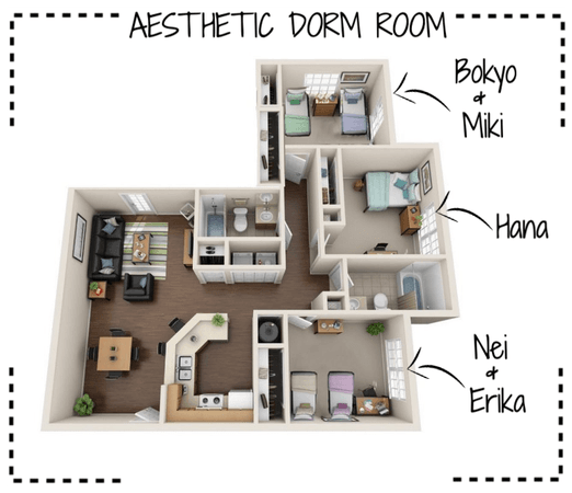AESTHETIC (미적) Dorm Room