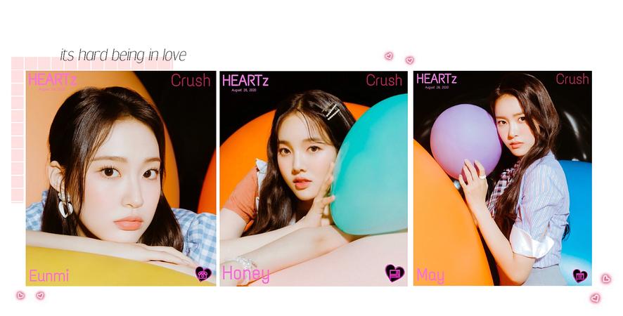 HEARTz// Eunmi, May & Honey 'Crush' Teaser Images