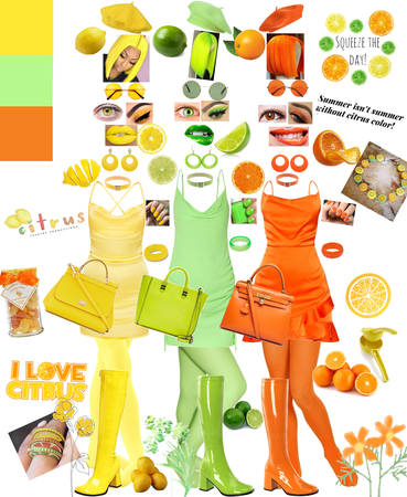 Miss Lemon, Miss Lime, and Miss Orange; The Citrus Sisters