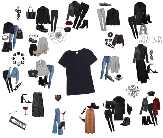 16 ways to wear a black shirt