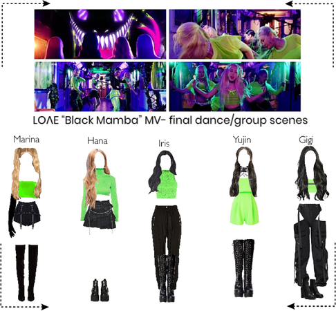 "LOΛE ""Black Mamba"" MV- final dance/group scenes"