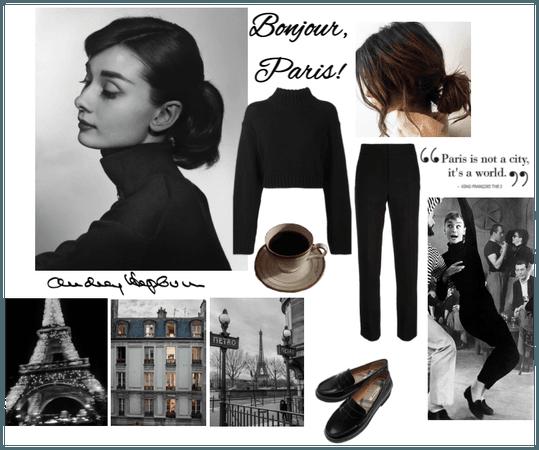 Bonjour, Paris! Audrey Hepburn Funny Face