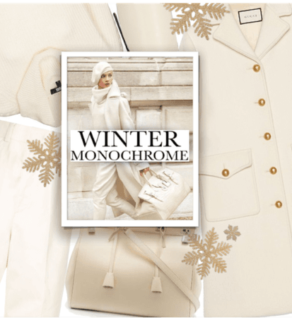 Winter Monochrome #White/Beige