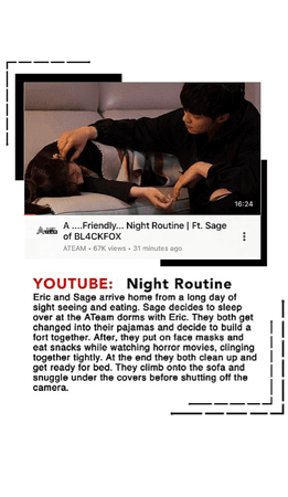 YOUTUBE: NIGHT ROUTINE W/ SAGE