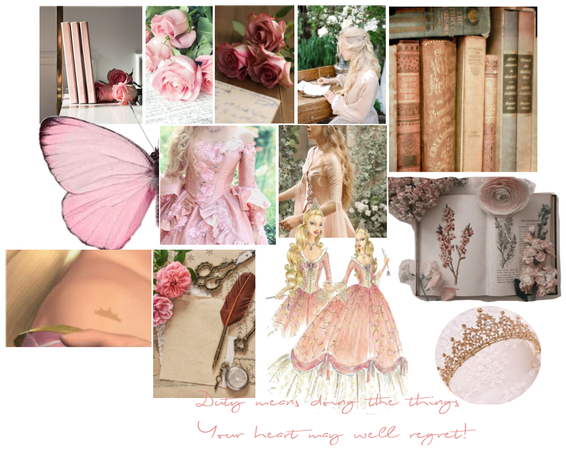 Barbie as The Princess and the Pauper aesthetic
