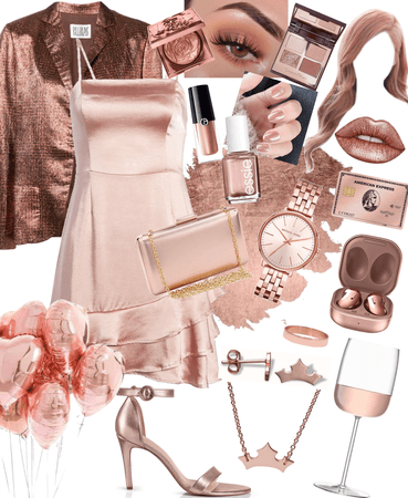 Rose Gold Party Outfit
