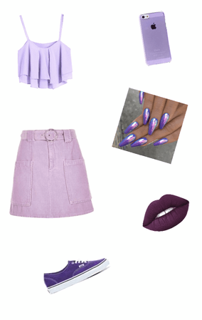 monochromatic purple