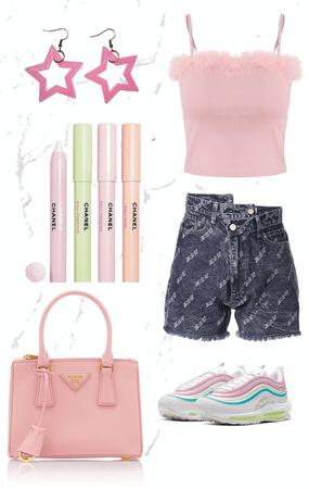 pouty pink