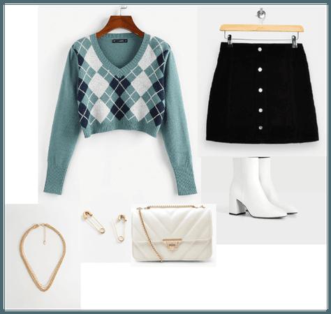 fashionable schoolgirl