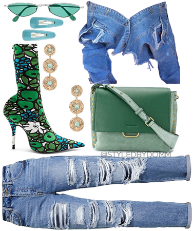 Denim and green