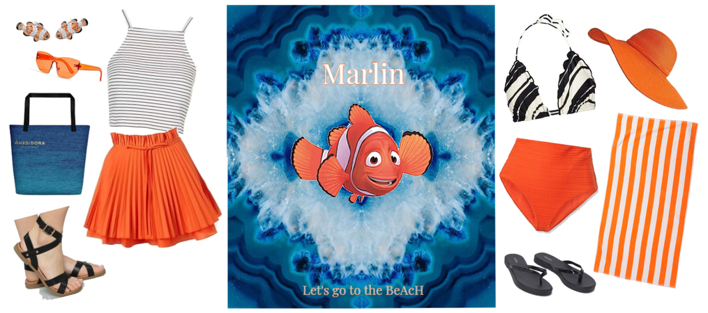 Marlin outfit - go to the beach - Disneybounding