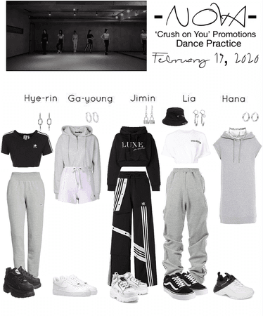 -NOVA- 'Crush on You' Dance Practice Outfits