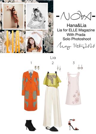 -NOVA- Hana&Lia | Lia for ELLE Solo Photoshoot with Prada