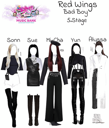 "Red Wings ""Bad Boy"" 5.Stage at Music Bank."
