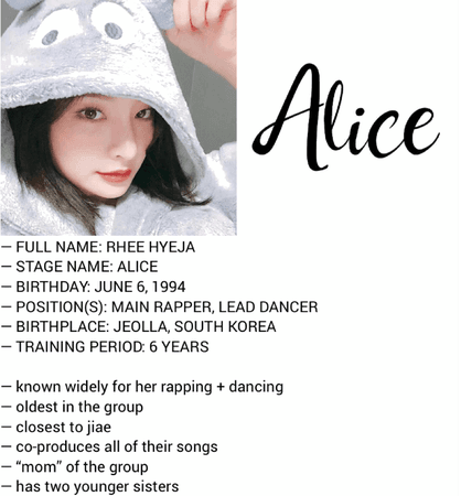 HEARTBEAT ALICE PROFILE