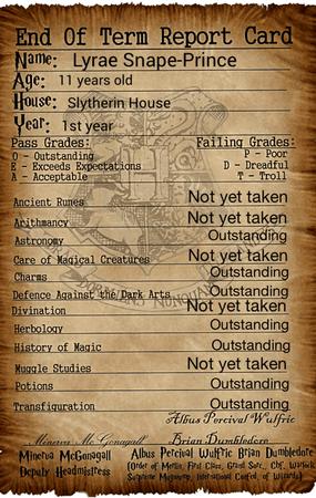 Lyrae's report card