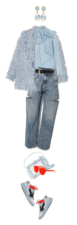 Blue Coral Denim Outfit