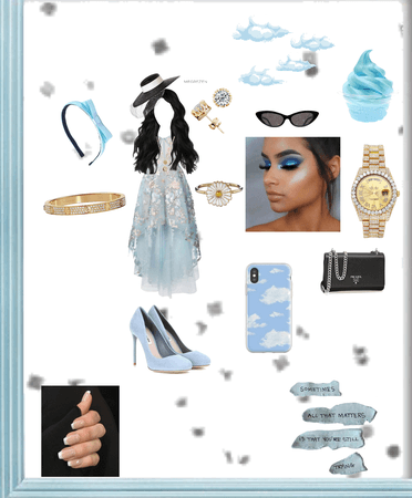 blue fantasy outfit