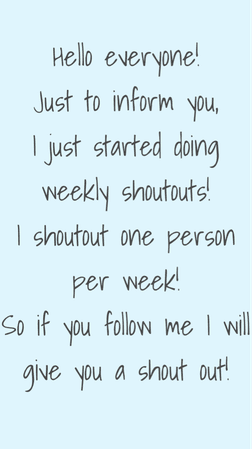follow me if you want a shoutout!