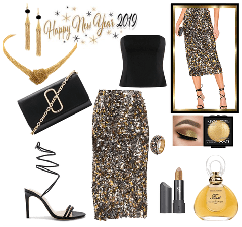 Sequined skirt for a New Year's party