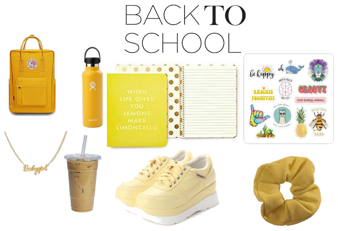 back to school yellow lovers
