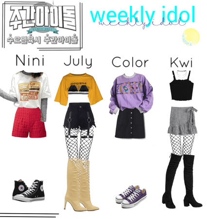 """4est on """"weekly idol"""""""