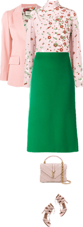 Office outfit: Rose - Green
