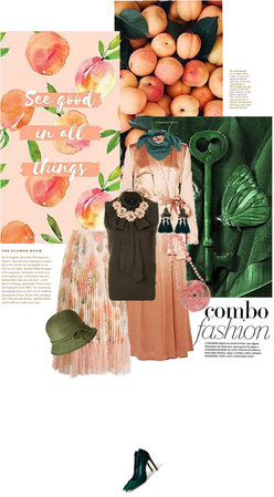 Spring Combo Fashion: Peach And Pine