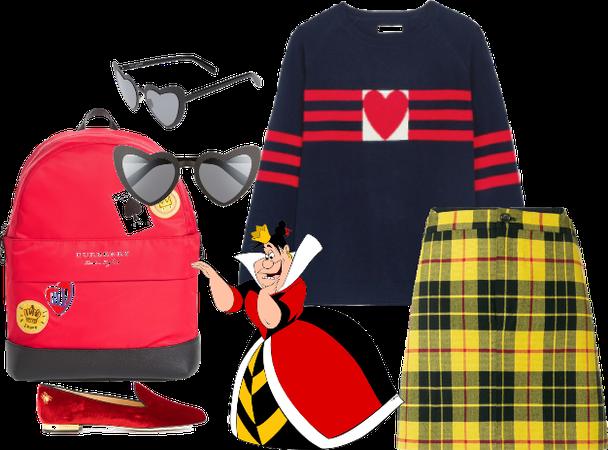 Queen Of Hearts (Alice In Wonderland) Disneybound