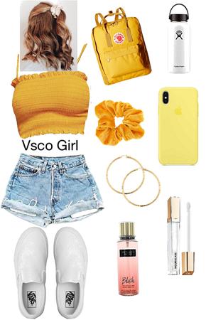 Yellow Vsco girl