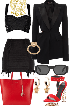 Business and Pleasure outfit🖤❤️