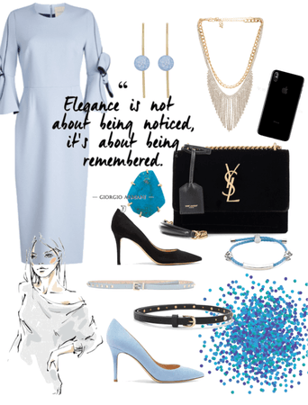 Light Blue - Office Outfit MoodBoard