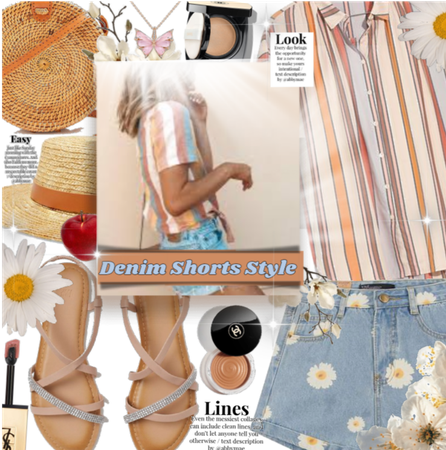 How To Style These daisy print denim shorts