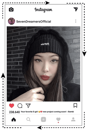Seven Dreamers' Bambi's first Instagram Post