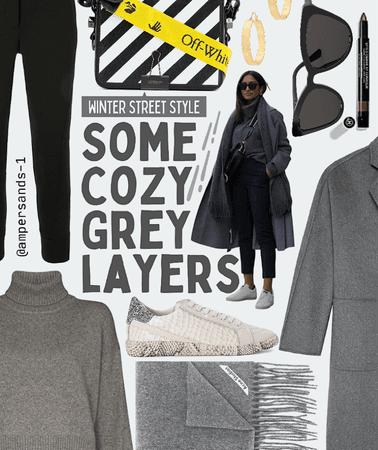 Cozy grey layers