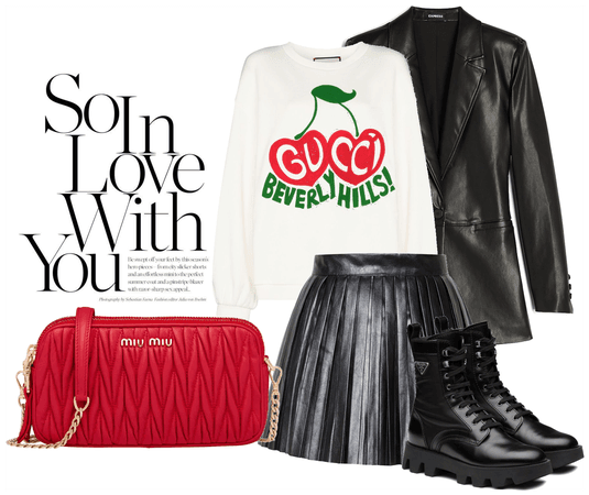 red is the color of love #OOTD