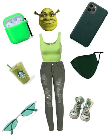 Shrek but a popular girl..! lol