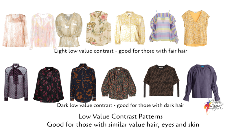 low value contrast patterns