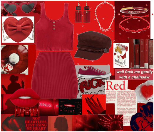 red aesthetic outfit