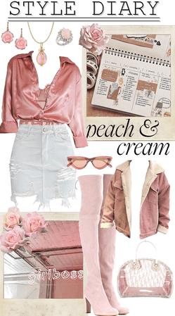 STYLE DIARY : Peach & Cream