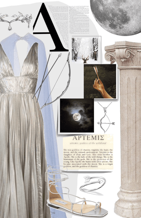 artemis, goddess of the wilderness and the moon