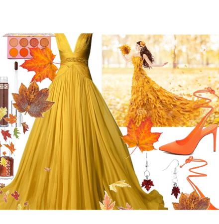 fall nature bride