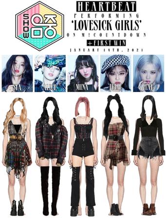[HEARTBEAT] 20210116 MBC MUSIC CORE STAGE   'LOVESICK GIRLS' + FIRST WIN