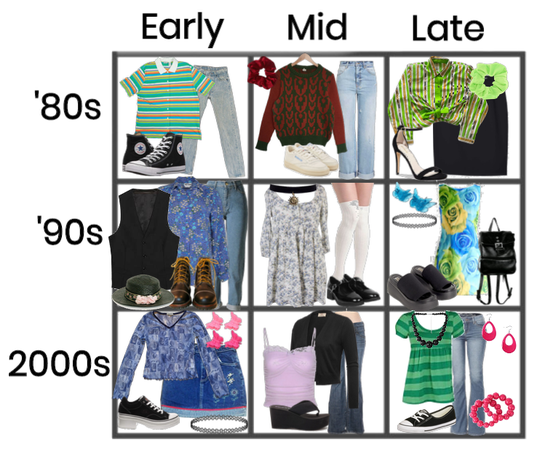 Decades ('80s, '90s and 2000s)
