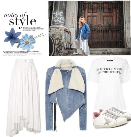 denim jacket & skirt