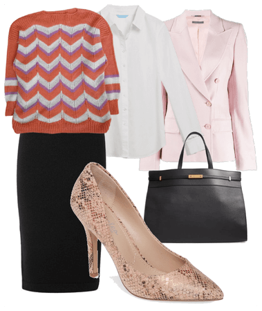 Work in coral print