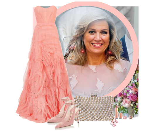 Peac gown for Queen Maxima