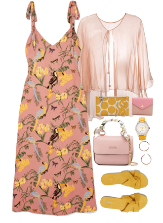 pink and yellow combo