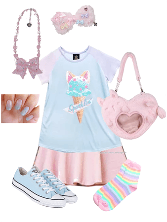 Pink and blue fairy coord